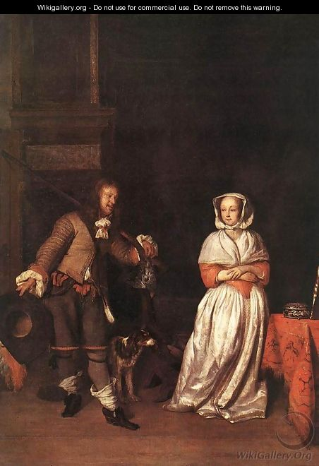 The Hunter and a Woman - Gabriel Metsu