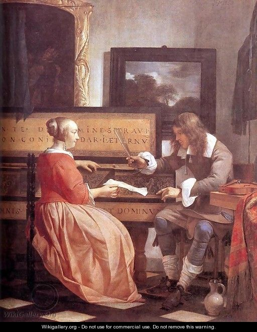 Man and Woman Sitting at the Virginal 1658-60 - Gabriel Metsu