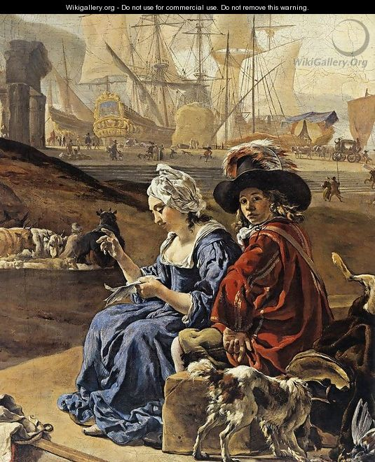 An Italian Seaport (detail) 1666 - Jan Weenix