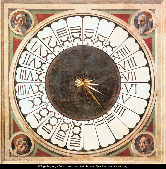 Clock With Heads Of Prophets - Paolo Uccello
