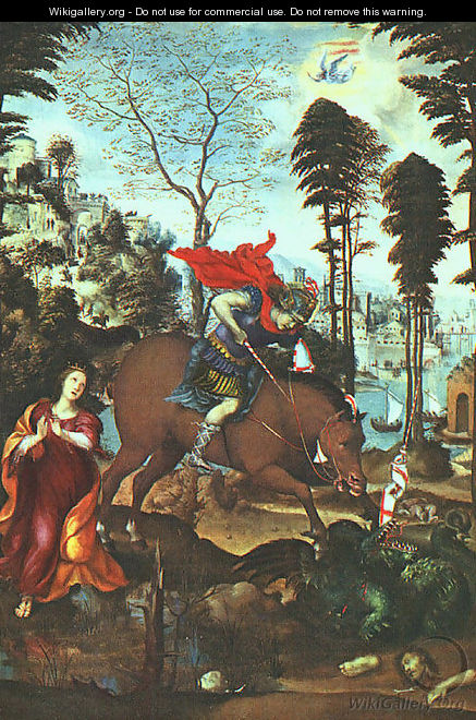 St George And The Dragon 1518 - Il Sodoma (Giovanni Antonio Bazzi)