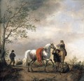 Cavalier Holding A Dappled Grey Horse - Philips Wouwerman