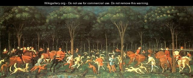 The Hunt in the Forest 1460s - Paolo Uccello