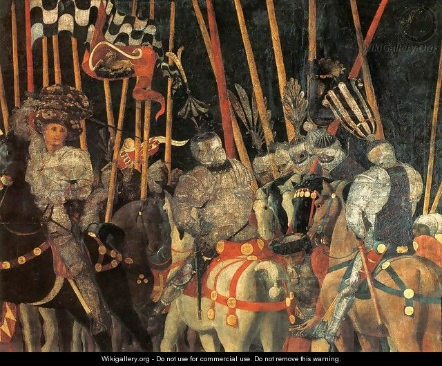 Micheletto Da Cotignola Engages In Battle (detail) - Paolo Uccello