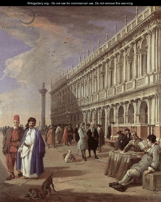 The Piazzetta and the Library 1720s - Luca Carlevaris