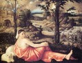 Reclining Woman in a Landscape 1520-24 - Cariani