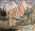 The Stigmatization of St Francis (predella 1) c. 1445 - Domenico Veneziano