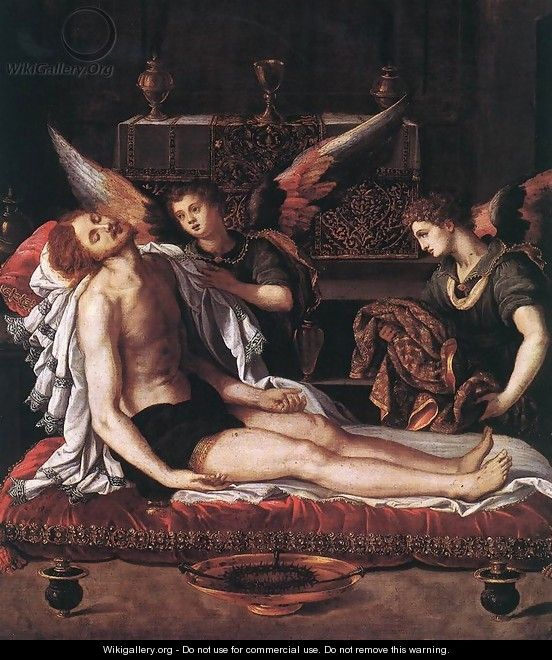 The Body of Christ with Two Angels 1600 - Alessandro Allori