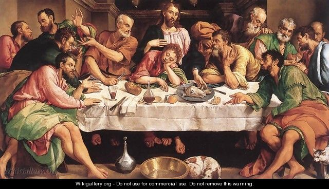 The Last Supper 1542 - Jacopo Bassano (Jacopo da Ponte)