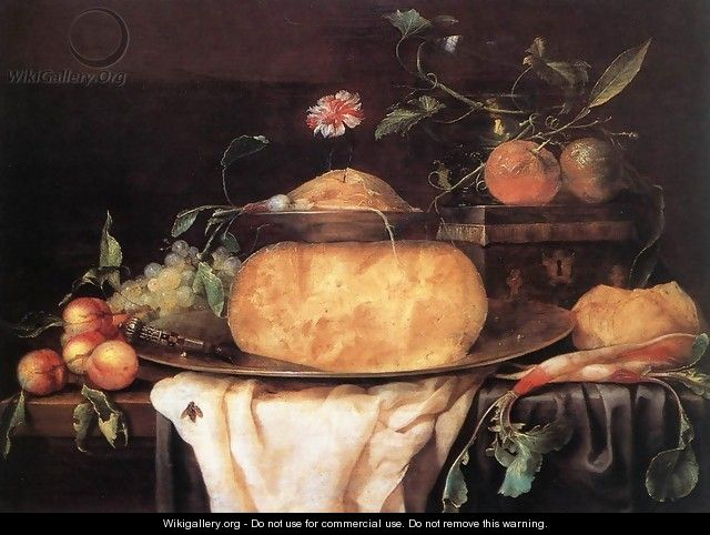 Still-Life with Cheese 1650s - Joris Van Son