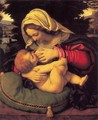 Madonna of the Green Cushion c. 1507 - Andrea Solari