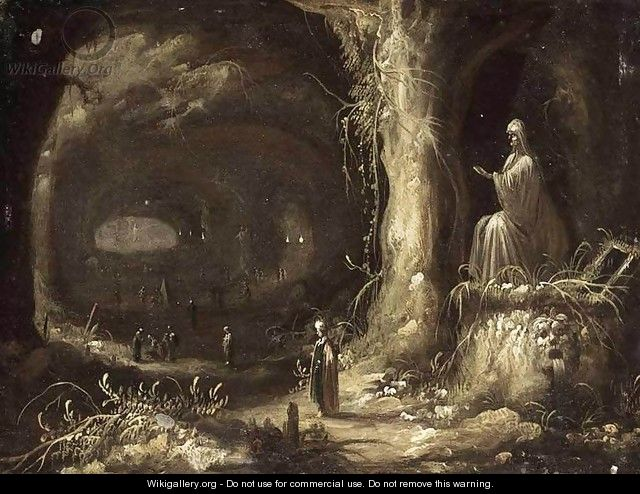 Interior Of A Grotto - Rombout Van Troyen