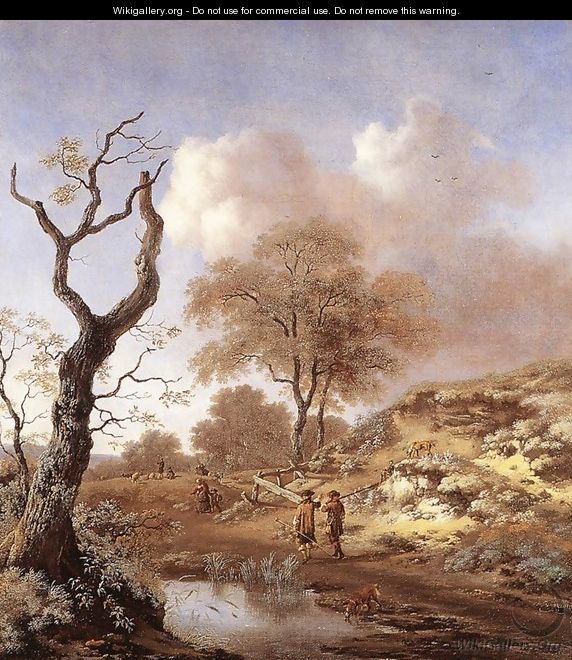 A Hilly Landscape 1660-65 - Jan Wynants
