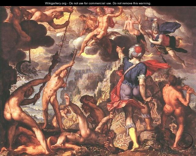 The Battle Between the Gods and the Titans 1600 - Joachim Wtewael (Uytewael)