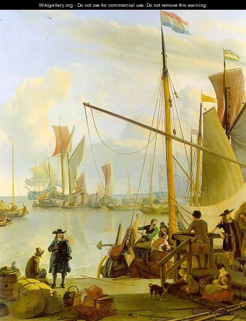 View From The Mussel Pier In Amsterdam 1673 - Ludolf Backhuysen