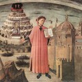 Dante Illuminating Florence With His Poem (detail) - Domenico Di Michelino