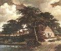 Landscape with a Hut c. 1660 - Meindert Hobbema