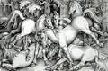 Wild Horses Fighting 1534 - Hans Baldung Grien