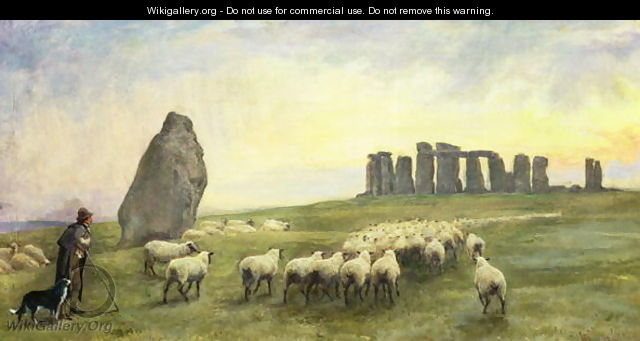Returning Home, Stonehenge, Wiltshire, 1891 - Edgar Barclay