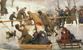 A Merry-Go-Round on the Ice 1888 - Robert Barnes