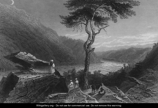 The Valley of the Shenandoah, from Jefferson Rock, 1838 - William Henry Bartlett