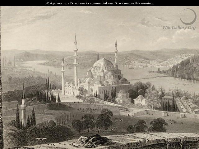 Mosque and Tomb of Sulieman, from the Seraskier