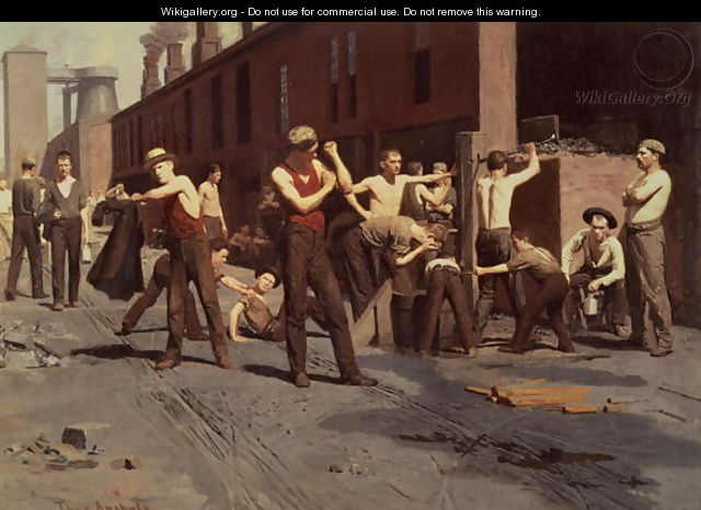 Iron Workers at Noontime, 1882 - Thomas Pollock Anschutz