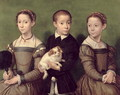 Two Sisters and a Brother of the Artist - Sofonisba Anguissola