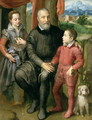 Portrait of the artist's family, Minerva - Sofonisba Anguissola