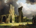 Glastonbury Abbey with the Tor beyond - George Arnald