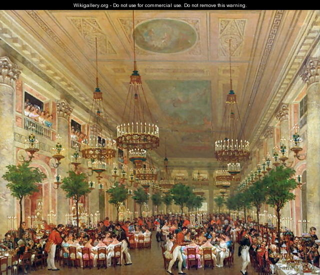Feast at the Tuileries to Celebrate the Marriage of Leopold I, 1832 - Le Baron Attalin
