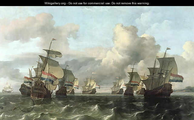 The Dutch Fleet of the India Company 1675 - Ludolf Backhuysen