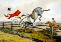 Taking a Tumble, from 'Qualified Horses and Unqualified Riders', 1815 - Henry Thomas Alken