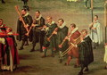 Musicians taking part in The Ommeganck in Brussels on 31st May 1615- Procession of Notre Dame de Sablon - Denys Van Alsloot