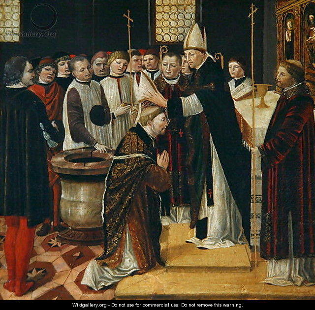 Ordination of St. Augustine - Ambrogio Borgognone