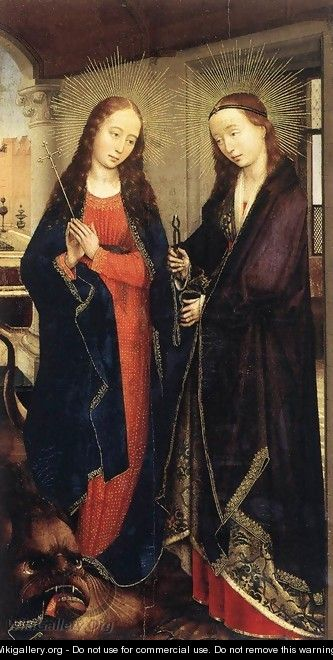 Sts Margaret and Apollonia 1445-50 - Rogier van der Weyden