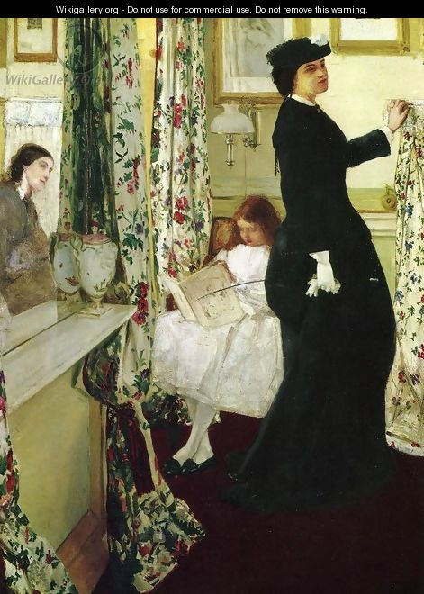 Harmony in Green and Rose- The Music Room 1860-61 - James Abbott McNeill Whistler