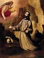 St Francis of Assisi Receiving the Stigmata - Francisco De Zurbaran