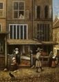 Street Scene with Bakery - Jacobus Vrel