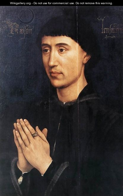 Portrait Diptych of Philippe de Croy (right wing) c. 1460 - Rogier van der Weyden