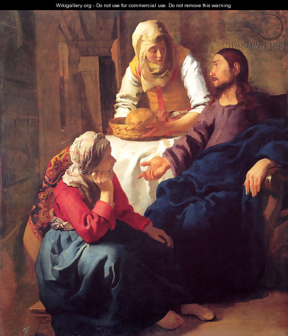 Christ in the House of Martha and Mary 1654-55 - Jan Vermeer Van Delft