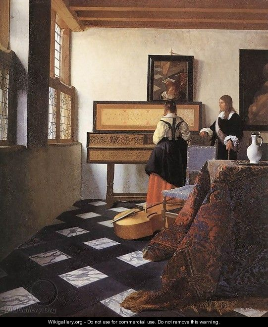 A Lady at the Virginals with a Gentleman 1662-65 - Jan Vermeer Van Delft