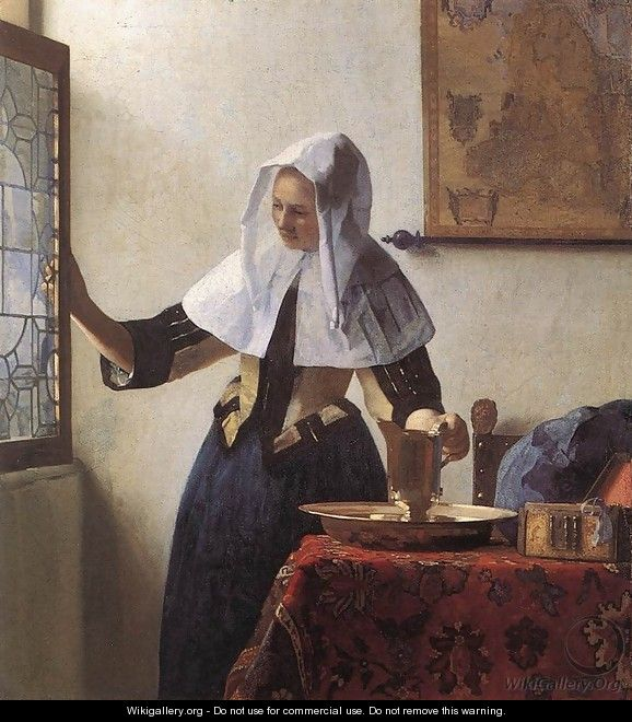Young Woman with a Water Jug 1660-62 - Jan Vermeer Van Delft