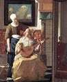 The Love Letter (detail-1) 1667-68 - Jan Vermeer Van Delft