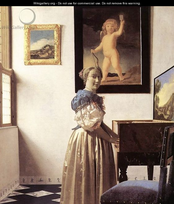 Lady Standing at a Virginal c. 1670 - Jan Vermeer Van Delft