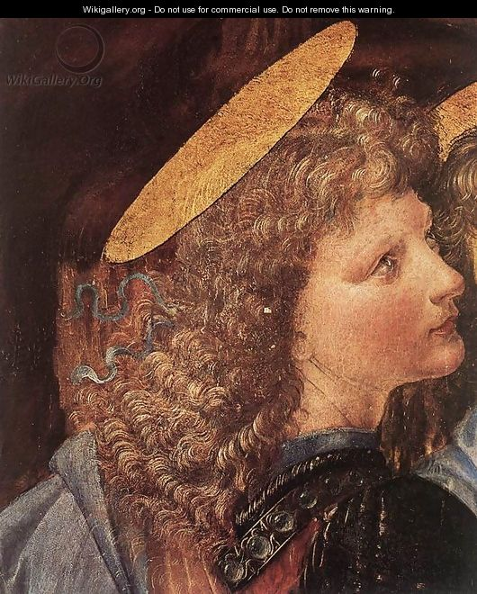 The Baptism of Christ (detail by Leonardo da Vinci) 1472-75 - Andrea Del Verrocchio