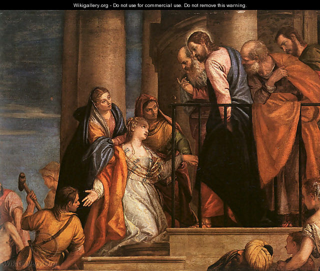 Christ and the Woman with the Issue of Blood 1565-70 - Paolo Veronese (Caliari)