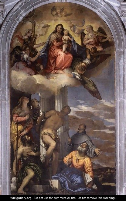 Virgin in Glory with Saints c. 1562 - Paolo Veronese (Caliari)
