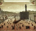 Execution of Savonarola on the Piazza della Signoria 1498 - Italian Unknown Masters