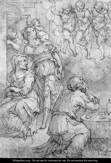 Abraham and the Three Angels - Giorgio Vasari